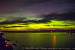 Aurora Over the Lighthouse (sheriminardi) Tags: nightsky auroraborealis starrynight