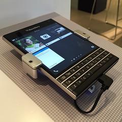 Finally used the BlackBerry Passport. It's still a pretty crazy phone.