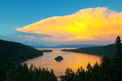 Emeral Bay Sunset (Joshua D. Williamson) Tags: california ca sunset cloud lake clouds bay nikon south tahoe nikkor 2009 d300 emeral