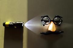 Bob (hutchphotography2020) Tags: nose mask moustache flashlight iphone eys