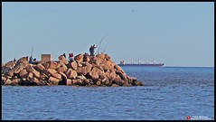 Pesca y mar (Pablo R. Martnez) Tags: uruguay mar barco punta montevideo pesca tranquilidad carretas
