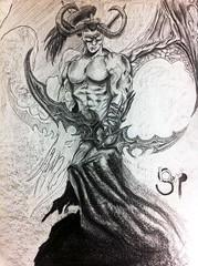 #illidan #warcraft #blackpencil #blizzard #artwork #sketchbook #draw (bsarpi) Tags: artwork sketchbook warcraft draw blizzard illidan blackpencil