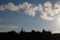 Rooftops & Chimney Pots (The Green Album) Tags: city chimney sky skyline clouds scotland edinburgh rooftops graphic silhouettes pots simplicity