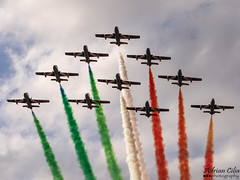 Italy Air Force --- Frecce Tricolori --- Aermacchi MB-339PAN (Drinu C) Tags: plane aircraft military sony dsc aermacchi freccetricolori mla italianairforce mb339pan italyairforce lmml hx100v adrianciliaphotography