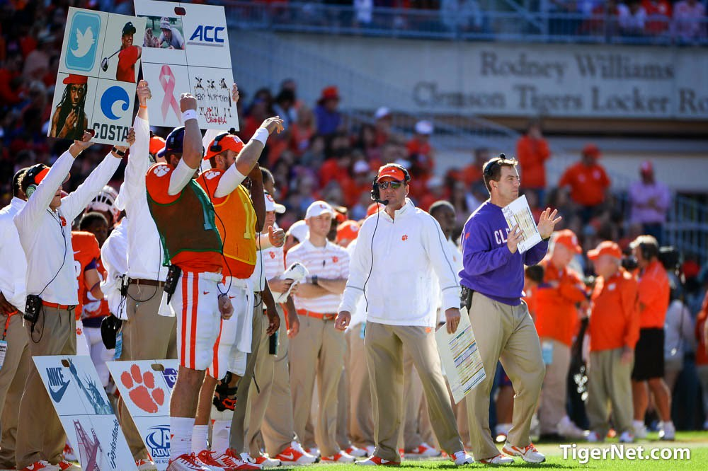 Clemson Photos: 2014, Chad  Morris, Football, N C  State