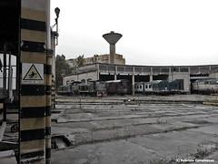 Giornate grigie... (Fabry_C) Tags: diesel cielo locomotive pioggia carri fs stato aln trenitalia ferrovia deposito treni dello ferrovie giornate e646 d245 grigie rotabili