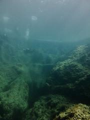 Anchor Reef, Gozo (yayapapaya77) Tags: plants rocks underwater stones pflanzen bubbles diving malta steine diver mediterraneansea gozo felsen taucher tauchen unterwasser mittelmeer luftblasen anchorreef canonpowershotg15
