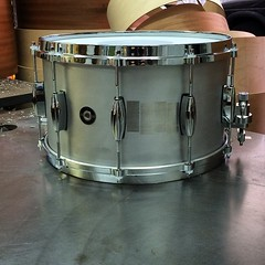 8X14 Aluminum Plate. This drum sounds so good I actually thought about keeping it. At least it has a good home @six5riv #qdrumco #aluminum #snare