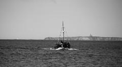 bow wave (byronv2) Tags: sea sun sunlight sunshine weather river island coast boat sailing ship forth coastal northsea northberwick firthofforth riverforth yellowcraig eastlothian rnbforth