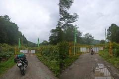 OkuSanru Rindou (mega_midget_racer) Tags: blue trees sea sky tree green nature bike japan forest hokkaido bmw  motorcycle  touring gravel r1200gs