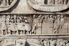 Arch of Constantine - 3 (Paul Dykes) Tags: italy sculpture rome roma italia triumphalarch basrelief archofconstantine ancientrome emperorconstantine