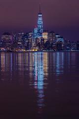 WTC Night (c_slavik) Tags: world new york city nyc tower night canon freedom long exposure manhattan center wtc lower trade