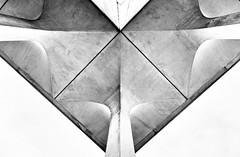 Woody Woo (Dalliance with Light (Andy Farmer)) Tags: bw up stone architecture modern concrete newjersey unitedstates nj arches princeton limestone pillars travertine eave minoruyamasaki princetonuniversity robertsonhall pedestals woodrowwilsonschool woodywoo kelbyworldwidephotowalk2014
