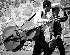 musician... (jangelo68) Tags: bw mexico pentax bass jazz tequila