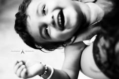 Blissful Laugh (Prateek Photography :)) Tags: baby india monochrome canon eyes joy laugh bliss pune