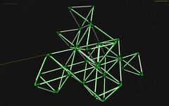 CultBath SysTetrahedral01 0024 (watz) Tags: sketch triangle geometry installation publicart polygons wireframe delaunay lightinstallation mariuswatz tetrahedral octettruss kulturbadet