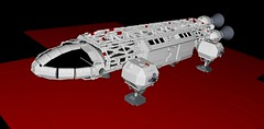 Eagle transporter - MLCAD + Kerkythea - Space 1999 (mattingly3900) Tags: lego eagle space 1999 alpha moonbase transporter