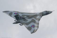 Vulcan B.2 XH558 Farewell Flight at Carlisle (Mark_Aviation) Tags: cold museum airplane airport war aircraft aviation salute flight jet farewell b2 vulcan bomber raf solway avro mrr 2015 carlise flypast xh558 b2a xj823
