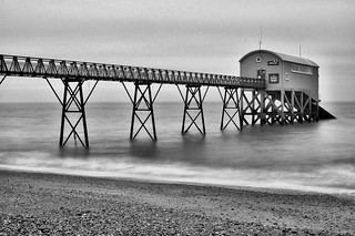 Lifeboat Station B&W with ND Filter