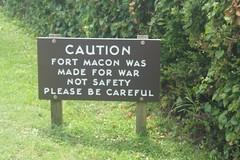 Fort Macon (alliesgator) Tags: dslr nx1100 photography alliesgatorphotography explorenc explore fort battle war sign history historic northcarolina atlanticbeachnc no fortmacon
