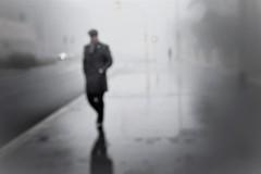 man in the fog (s@brina) Tags: man fog gray atmosphere winter