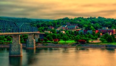 From last Summer - Happy weekend, everyone. : ) (Roland 22) Tags: flickr colorful trees coolidgepark shadow light reflection dawn morning tennesseeriver walnutstreetbridge chattanoogatennessee