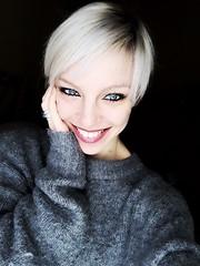 Smile (self-portrait) (federicalepri) Tags: artisawoman makeup smile girl woman selfie portrait