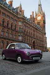 Untitled (Joe Alcorn) Tags: london kingscross stpancras urban city britain unitedkingdom vintage car purple classic