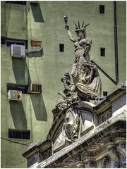 Sculpture on the roof of the 'Escuela Normal Sarmiento' (Luc V. de Zeeuw) Tags: escuela escuelanormalsarmiento green normal roof sarmiento sculpture buenosaires ciudadautónomadebuenosaires argentina