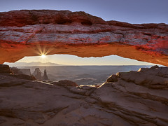 Mesa Arch Sunrise (Denverphotoscapes) Tags: ~photography ~orientation landscape environment scenery land phaseone iq3100 moab park nationalpark mesaarch worldregionscountries northamerica unitedstatesofamerica utah