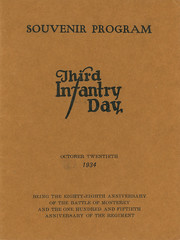 1934-10-20-Organizaion Day program-01 (Old Guard History) Tags: 1934 3dusinfantryregimenttheoldguard fortsnelling minnesota organizationday