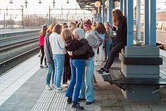 (Monsieur Marchi) Tags: leicam8 nässjö train station platform girls group småland sweden sverige sj brand fire stop hug hugs iphone summicron35mmf2v4