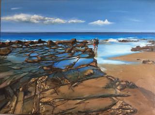 Rocks at Lorne - original oil painting