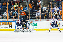"Missouri Mavericks vs. Tulsa Oilers, March 5, 2017, Silverstein Eye Centers Arena, Independence, Missouri.  Photo: John Howe / Howe Creative Photography • <a style=""font-size:0.8em;"" href=""http://www.flickr.com/photos/134016632@N02/33273249556/"" target=""_blank"">View on Flickr</a>"