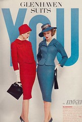 Glenhaven Suits 1958 (barbiescanner) Tags: vintage retro fashion vintagefashion 50s 50sfashion vintageads glenhavensuits lindaharper gyongyiarmstrong