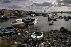 The unloved (PentlandPirate of the North) Tags: boats yachts jennifer southgare teeside redcar junk rubbish flotsam jetsam untidy heap garbage industrial shithole