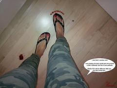 Two Down, One to Go (Red Neptune) Tags: giantess gts feet crush stomp sandals flipflops shrunkenman sm shrunkenmen