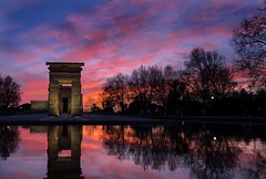 Temple of Debod (EXPLORED) (Stefano Avolio) Tags: madrid spain spagna templeofdebod sunset tramonto tempiodidebod hdr stefanoavolio savolio crepuscolo dusk parquedeloeste egypt egyptian templodedebod debod