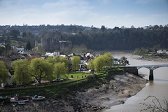 Chepstow Riverbank (Roger.C) Tags: chepstow river riverwye riverbank water wfc southwales wales muddy trees castle chepstowcastle sunny monmouthshire buildings viewpoint view wyevalley nikon d610 tamron 2470