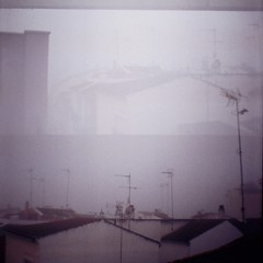 (statoingravitto) Tags: doubleexposure lomo lomography dianamini cloudy roofs film analog 35mm
