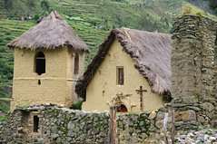 (SuzanneAlise) Tags: peru southamerica rural church parish ruins thatchroof stone wall rock rocks