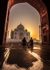 Gateway To Love - Agra, India (Kartik Kumar S) Tags: tajmahal taj agra uttarpradesh india sunrise couple mughal love canon 600d tokina 1116mm