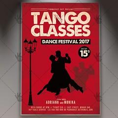 Tango Classes - Premium Flyer PSD Template (psdmarket) Tags: argentinetango ballroomdancing canyengue chacha couple dance flamenco habanera latindance latino maxixe milonga salsa samba tango