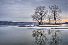 Cold Sunset on Cayuga Lake (agladshtein) Tags: tompkinscounty cny winter nikond500 nikkor2470mmf28 destination ny fingerlakes centralnewyork cayugalake newyork scenic camera snow sunset ice frozen myerspark ithaca hdr