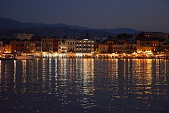 summer moods (JoannaRB2009) Tags: summer mood warm city lights citylights building architecture reflections mountains water harbour oldvenetianharbour night evening chania hania xania canea greece greek crete island kriti kreta landscape view cityscape