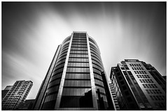 Winners podium (Jaka Pirš Hanžič) Tags: brisbane city architecture building buildings long exposure clouds cityscape cloudy skyscraper sky skyline black white bw movement monochrome motion day daylight daytime urban winners podium lee little stopper nd 6 10 16 filter