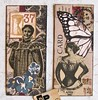 Mini Moo Cards 30 (collageDP) Tags: moocard minimoo collage smallart vintagestyle vintagefashion monochromatic sepia