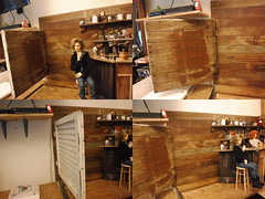 new corner wall (steamwitch) Tags: bjd bjdgroupphoto bjdboys bjddiorama bjdpub woodwork