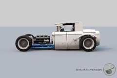 Show Stopper Rod side - 10-wide - Lego (Sir.Manperson) Tags: lego hot rod lfa engine chassis ldd render yee