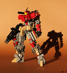 Redeath RD-03 (Devid VII) Tags: lego moc mech devid vii mecha war troopers foitsop wars trooper city detail details drone walker marines assault dark red dk redeath rd03 devidvii